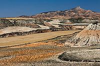 Europe, Espagne, Navarre, env Buñuel: Parc Naturel des Bardenas Reales, Fraile Alto, La Pena del Fraile,  // Europe, Spain, Navarre, near Buñuel: Fraile Alto,   Pena del Fraile<br />  )