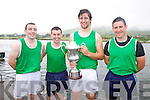 The Cromane Crew who won the Senior Men's race at the Cahersiveen Regatta on Sunday last were l-r; john Houlihan, Darren Casey, Padraig Hallissey & Daniel O'Shea, Cox Jerry Houlihan.