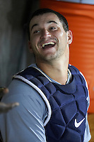 Peoria Javelinas catcher Mike Zunino #36, of the Seattle Mariners organization, during an Arizona Fall League game against the Salt River Rafters at the Salt River Fields at Talking Stick on October 18, 2012 in Scottsdale, Arizona.  Peoria defeated Salt River 3-1.  (Mike Janes/Four Seam Images via AP Images)