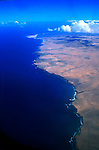 Arial image of Fuerteventura, Canary Islands.