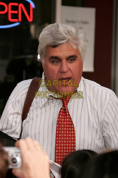 "JAY LENO.""Bee Movie"" Los Angeles Premiere held at Mann's Village Theatre, Westwood, California, USA, 28 October 2007..portrait headshot red tie funny .CAP/ADM/RE.©Russ Elliot/AdMedia/Capital Pictures."