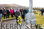 Jimmy O'Shea lays a wreath at the grave of Con Keating on Saturday as part of the tour of Republican Graves in Killovarnogue with Dr. Tim Horgan.