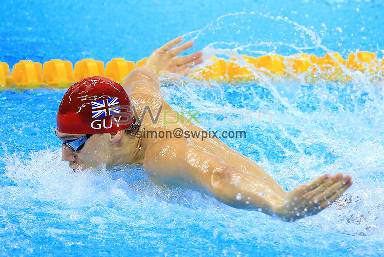 RIO DE JANEIRO, BRAZIL - AUGUST 11:  James Guy of Great Britain competes in the Men's 100m Butterfly Heats on Day 6 of the Rio 2016 Olympic Games at the Olympic Aquatics Stadium on August 11, 2016 in Rio de Janerio, Brazil.  (Photo by Vaughn Ridley/SWpix.com)