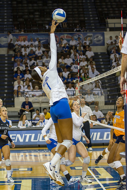 Junior Whitney Billings setting up for the kill in Lexington, Ky., on Wednesday, September, 26, 2012. Photo by James Holt | Staff
