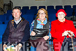 """Enjoying the performance of Students from Coláiste na Riochta, Listowel with their production  of  """"A Wake in the West"""" at St John's Theatre Listowel on Thursday were John Kennelly, Ester Kelly and Mary kelly"""