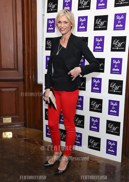 Jenni Falcolner arriving for the Style for Stroke Party, 5 Cavendish Square, London. 02/10/2012 Picture by: Henry Harris  / Featureflash