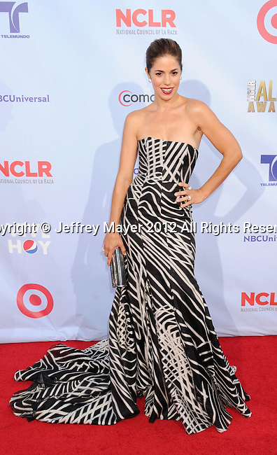 PASADENA, CA - SEPTEMBER 16: Ana Ortiz arrives at the 2012 NCLR ALMA Awards at Pasadena Civic Auditorium on September 16, 2012 in Pasadena, California.