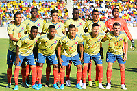 BARRANQUILLA - COLOMBIA, 12-01-2020: Jugadores de Colombia posan par una foto previo al partido amistoso entre las selecciones Nacionales Sub 23 de Colombia y Bolivia previo al Preolímpico CONMEBOL 2020 Sub-23 en el Eje Cafetero de Colombia jugado el estadio Romelio Martínez de Barranquilla. / Players of Colombia pose to a photo prior a friendly match between U23 Nationalteams of Colombia and Bolivia prior 2020 CONMEBOL Pre-Olympic Tournament U 23 in the Eje Cafetero in Colombia plyed at Romelio Martinez stadium in Barranquilla, Colombia.. Photo: VizzorImage / Alfonso Cervantes / Cont