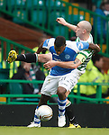 Nigel Hasselbaink gtwists his way past Scott Brown