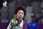 Akane Yamaguchi (JPN), <br /> AUGUST 22, 2018 - Badminton : Women's Team Final match between China 1-3 Japan at Gelora Bung Karno Istora <br /> during the 2018 Jakarta Palembang Asian Games <br /> in Jakarta, Indonesia. <br /> (Photo by MATSUO.K/AFLO SPORT)