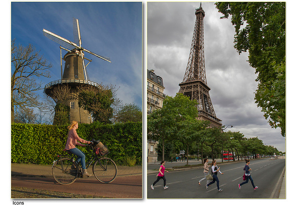 France, Paris. Icons Set the Stage.<br />