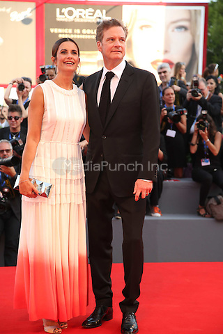 Livia Giuggioli, Colin Firth attend the premiere of 'Nocturnal Animals' during the 73rd Venice Film Festival at on September 2, 2016 in Venice, Italy<br /> CAP/GOL<br /> &copy;GOL/Capital Pictures /MediaPunch ***NORTH AND SOUTH AMERICAS ONLY***