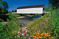Gallon House covered bridge over Abiqua Creek in Marion County, Oregon