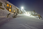 Timberline Lodge Mt Hood Oregon the shining snow covered snow drifts