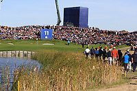 The 11th green during Saturday Foursomes at the Ryder Cup, Le Golf National, Ile-de-France, France. 29/09/2018.<br /> Picture Thos Caffrey / Golffile.ie<br /> <br /> All photo usage must carry mandatory copyright credit (&copy; Golffile | Thos Caffrey)