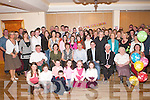 GET-TOGETHER: Friends and family of Anne and Michael Cashman (seated centre) who gathered in Darby OGills, Killarney, to celebrate Anns 40th birthday and Michaels 50th birthday last Saturday night..