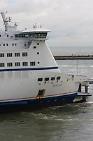 The bridge on the passenger ferry Berlioz of the Sea France fleet docking at the Port of Dover, Kent on 24.5.13.
