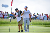 Francesco Molinari (ITA) after sinking his putt on 11 during Thursday's round 1 of the 117th U.S. Open, at Erin Hills, Erin, Wisconsin. 6/15/2017.<br /> Picture: Golffile | Ken Murray<br /> <br /> <br /> All photo usage must carry mandatory copyright credit (&copy; Golffile | Ken Murray)