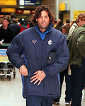 Marco Negri at Glasgow airport, 1997