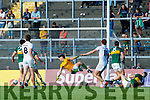 Paul Cribbin Kildare scores his side's second goal during the GAA Football All-Ireland Senior Championship Quarter-Final Group 1 Phase 3 match between Kerry and Kildare at Fitzgerald Stadium in Killarney, on Saturday evening.