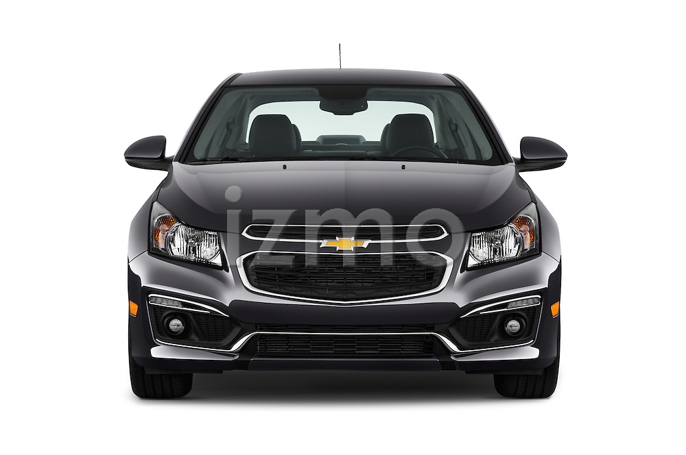 Car photography straight front view of a 2016 Chevrolet Cruze-Limited 2LT-Auto 4 Door Sedan Front View