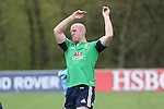 British & Irish Lions training session.Paul O'Connell warming up before taking part in the Lions first training session in Wales..Vale Resort.15.05.13.©Steve Pope