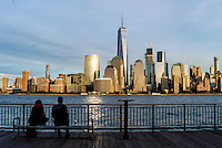 Jerey CIty, NJ USA, Lower Manhattan with the World Trade Center (Freedom Tower,) Battery Park City, World Financial Center and Brookfield Plaza. © Stacy Walsh Rosenstock