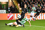 12th September 2017, Glasgow, Scotland; Champions League football, Glasgow Celtic versus Paris Saint Germain;  EDINSON CAVANI (psg) is brought down from behind