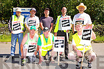 Employees of Roadstone Killarney out on strike Tuesday afternoon front row l-r: Charlie Ankettell, Jim Healy, Anthony Hobbs. Back row: John Lynch, Ollie kerrisk, Pat Cronin, Padraig Kissane, and Jim O'Riordan