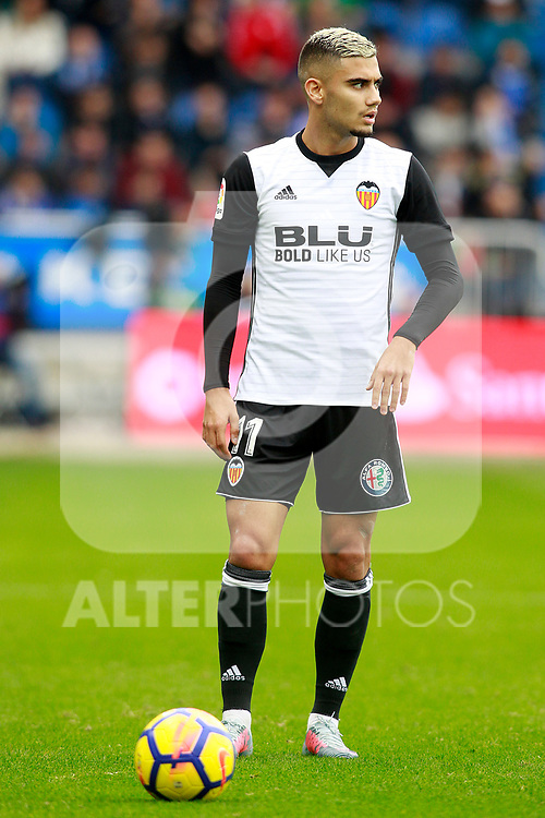 Valencia CF's Andreas Pereira during La Liga match. October 28,2017. (ALTERPHOTOS/Acero)