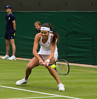 Ana Ivanovic<br /> <br /> Tennis - The Championships Wimbledon  - Grand Slam -  All England Lawn Tennis Club  2013 -  Wimbledon - London - United Kingdom - Monday 24th June  2013. <br /> &copy; AMN Images, 8 Cedar Court, Somerset Road, London, SW19 5HU<br /> Tel - +44 7843383012<br /> mfrey@advantagemedianet.com<br /> www.amnimages.photoshelter.com<br /> www.advantagemedianet.com<br /> www.tennishead.net