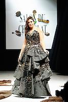 Marion Bartoli <br /> Parigi 29/10/2013 Salone del Ciccolato <br /> Sfilata celebrities con vestiti di cioccolato <br /> Foto Le Goff Panoramic / Insidefoto