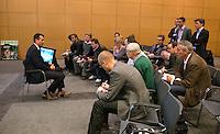 12-01-12, Tennis, Amsterdam, ABNAMRO Hoofdkantoor, Richard Krajicek  beantwoord vragen van de pers.