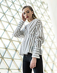 Sunday Mail Fashion with Mirella , Black and white, Location SAHMRI North tce, Photo: Nick Clayton