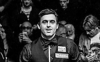 Ronnie O'Sullivan after winning the  Dafabet Masters FINAL between Barry Hawkins and Ronnie O'Sullivan at Alexandra Palace, London, England on 17 January 2016. Photo by Liam Smith / PRiME Media Images