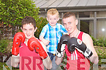 BOXING: Member's of St Margaret's boxing club, Tralee taking part in the international boxing tournament at the Carlton hotel, Tralee on Saturday l-r: Anthony Quilligan, John O'Brien and Mike O'Brien.
