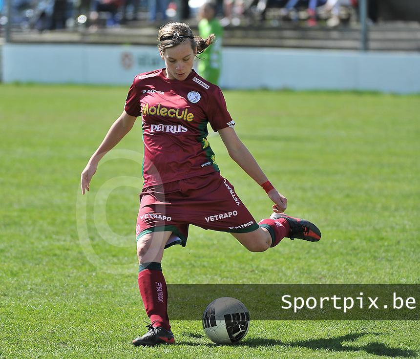 Dames Club Brugge - SV Zulte Waregem : Sheryl Merchiers.foto DAVID CATRY / Nikonpro.be