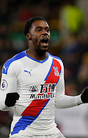 30th November 2019; Turf Moor, Burnley, Lanchashire, England; English Premier League Football, Burnley versus Crystal Palace; Jeffrey Schlupp of Crystal Palace celebrates after he scores to put them 2-0 ahead after 78 minutes - Strictly Editorial Use Only. No use with unauthorized audio, video, data, fixture lists, club/league logos or 'live' services. Online in-match use limited to 120 images, no video emulation. No use in betting, games or single club/league/player publications