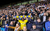 Leeds United fans cheer on their side<br /> <br /> Photographer Alex Dodd/CameraSport<br /> <br /> The EFL Sky Bet Championship - Leeds United v Sheffield Wednesday - Saturday 13th April 2019 - Elland Road - Leeds<br /> <br /> World Copyright © 2019 CameraSport. All rights reserved. 43 Linden Ave. Countesthorpe. Leicester. England. LE8 5PG - Tel: +44 (0) 116 277 4147 - admin@camerasport.com - www.camerasport.com