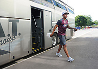 André Ayew of Swansea City arrives at Huish Park prior to kick off of the Pre-Season Friendly between Yeovil and Swansea City at Huish Park, Yeovil, England, UK. Tuesday 10 July 2018