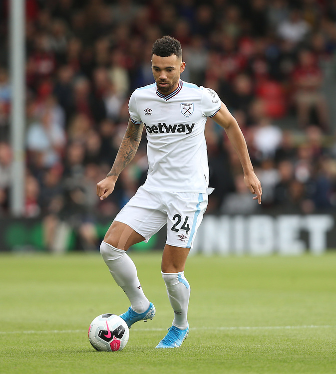 West Ham United's Ryan Fredericks<br /> <br /> Photographer Rob Newell/CameraSport<br /> <br /> The Premier League - Bournemouth v West Ham United - Saturday 28th September 2019 - Vitality Stadium - Bournemouth<br /> <br /> World Copyright © 2019 CameraSport. All rights reserved. 43 Linden Ave. Countesthorpe. Leicester. England. LE8 5PG - Tel: +44 (0) 116 277 4147 - admin@camerasport.com - www.camerasport.com
