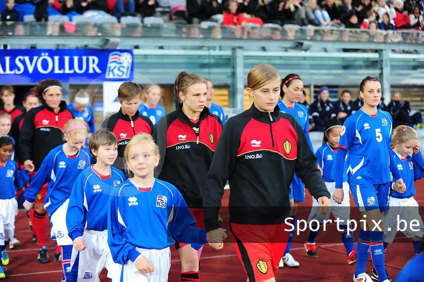 Iceland : UEFA Women's Euro Qualifying group stage (Group 3) - 21/09/2011 - 21:30CET (19:30 local time) - Laugardalsvöllur - Reykjavik : ICELAND (ijsland) - BELGIUM ( Belgie) : Lorca van de Putte.foto DAVID CATRY / Vrouwenteam.be
