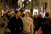 Oxford Street, Evening Shoppers, Tourists, Cross LDN Travelers, Homeward Bound Commuters and Beau meet-ups