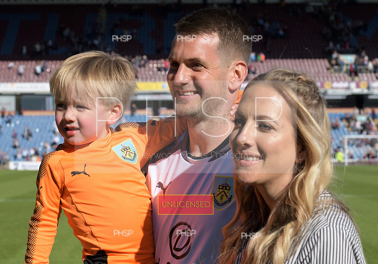 13/05/2018 Premier League Burnley v AFC Bournemouth<br /> <br /> Tom Heaton and family
