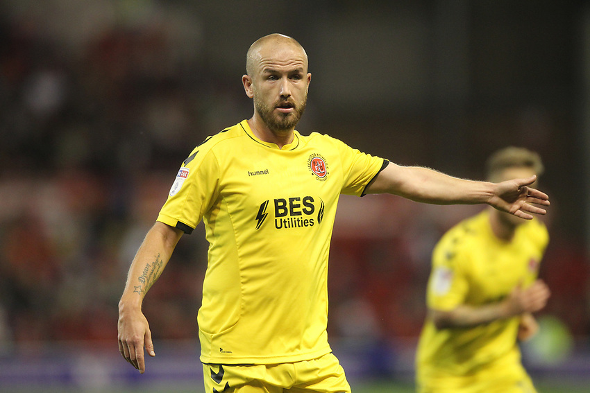 Fleetwood Town's Paddy Madden <br /> <br /> Photographer Mick Walker/CameraSport<br /> <br /> The Carabao Cup First Round - Nottingham Forest v Fleetwood Town - Tuesday 13th August 2019 - The City Ground - Nottingham<br />  <br /> World Copyright © 2019 CameraSport. All rights reserved. 43 Linden Ave. Countesthorpe. Leicester. England. LE8 5PG - Tel: +44 (0) 116 277 4147 - admin@camerasport.com - www.camerasport.com