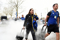 Sophie Bennett and the rest of Bath Rugby arrive at Twickenham. Gallagher Premiership match, The Clash, between Bath Rugby and Bristol Rugby on April 6, 2019 at Twickenham Stadium in London, England. Photo by: Patrick Khachfe / Onside Images
