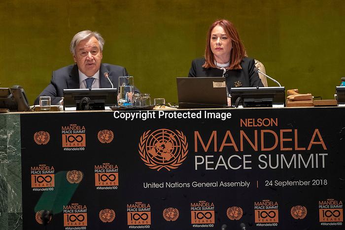 Opening Plenary Meeting of the Nelson Mandela Peace Summit