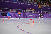 OLYMPIC GAMES: PYEONGCHANG: 15-02-2018, Gangneung Oval, Long Track, 10.000m Men, Sven Kramer (NED), Patrick Beckert (GER), ©photo Martin de Jong
