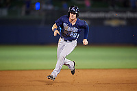 Corpus Christi Hooks designated hitter Drew Ferguson (20) runs the bases during a game against the Tulsa Drillers on June 3, 2017 at ONEOK Field in Tulsa, Oklahoma.  Corpus Christi defeated Tulsa 5-3.  (Mike Janes/Four Seam Images)