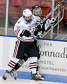 Braden Pimm (Northeastern - 14) - The Northeastern University Huskies defeated the visiting Providence College Friars 5-0 on Saturday, November 20, 2010, at Matthews Arena in Boston, Massachusetts.